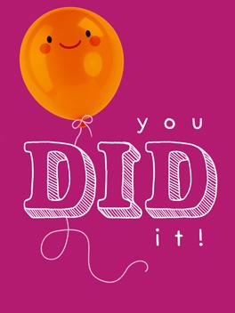 Go, you! just congrats card