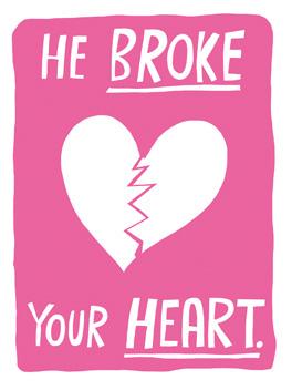 Heart/Face break ups card