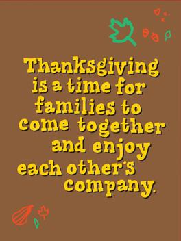 gulp. thanksgiving card