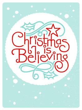 Believe. christmas card