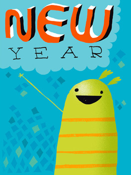 Auld Acquaintances happy new year card