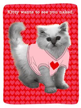 Hello, (Freaky) Kitty valentine's day card