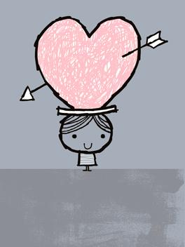 typo of love valentine's day card