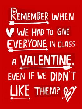 old school valentine's day card