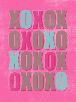 XOXOXXX valentine's day card