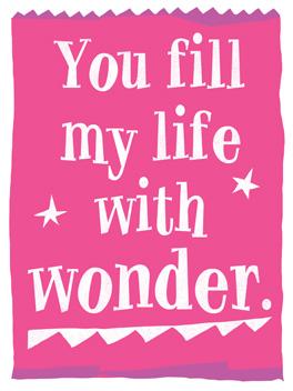 Wonderwear life, etc. card