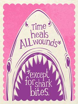 Hark, Shark! cheer-ups card