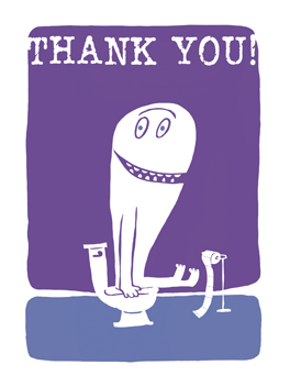 Crapful of Thanks thanks card