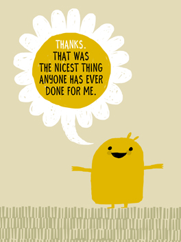 thanks & perspective thanks card