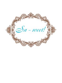 SA-WEET! just congrats card