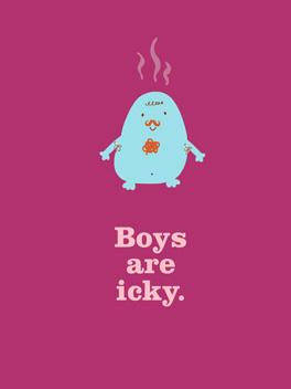 boys are icky break ups card