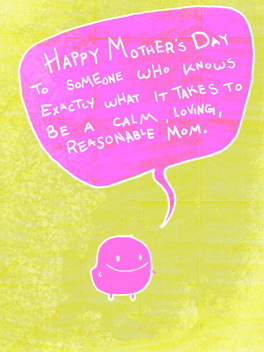 mom's little helper... mother's day card