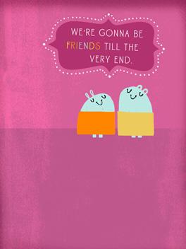 best buds friends rule card