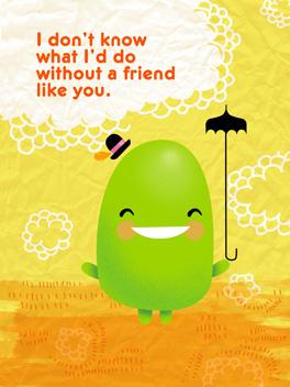 friends no bore friends rule card