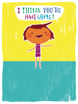 doubly awesome friends rule card