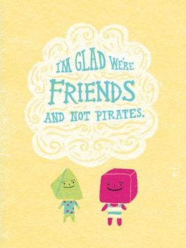 best matey friends rule card