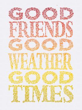 sooo good friends rule card