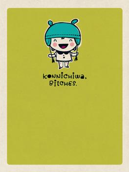 konnichiwa life, etc. card