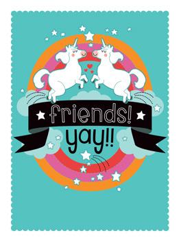 fun friends life, etc. card