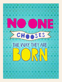 born to be fab birthday card