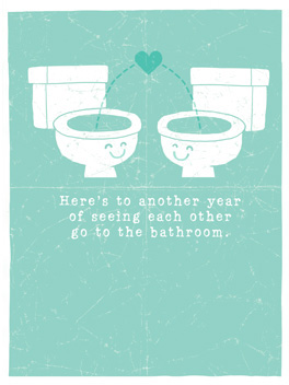 let's pee together anniversary card