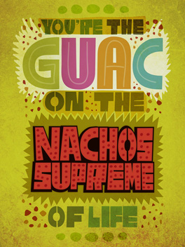 guac love bromance card