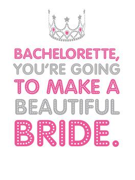 Conditional bachelorette card