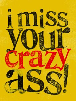 asstastic! miss you card