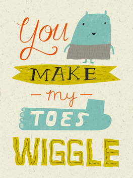 all wiggly life, etc. card