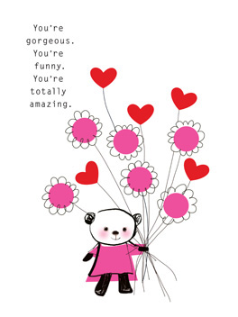 lucky me valentine's day card