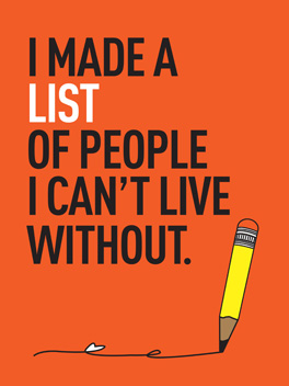 list-o-love life, etc. card