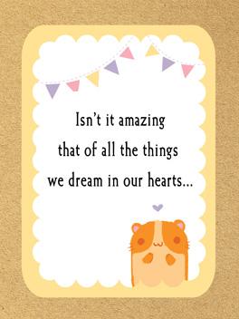 tiny miracles yay, new human! card
