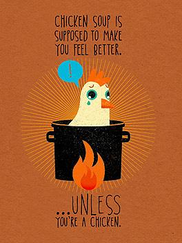 chicken sorrow feel better card