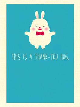 huggy thanks thanks card