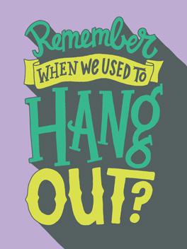 let's hang card