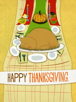 yes, hoo-ha. thanksgiving card
