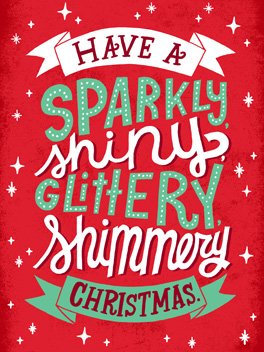 so much twinkly! christmas card