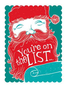 made the list christmas card