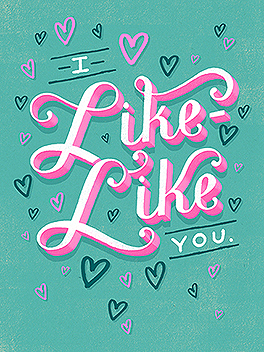 """the """"L"""" word valentine's day card"""