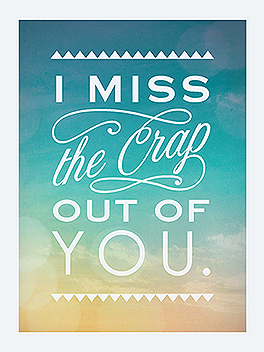 missin' you miss you card