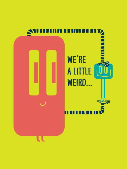 little weird life, etc. card