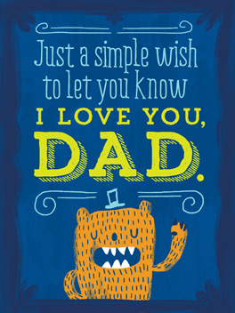 love you, man father's day card