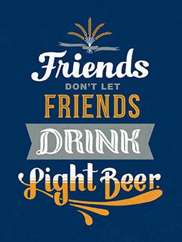 light beer bromance card