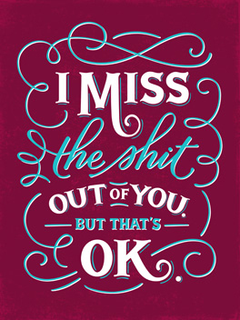 missing you miss you card