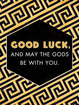 gods be with you wish 'em luck card
