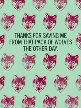 wolves? thanks card