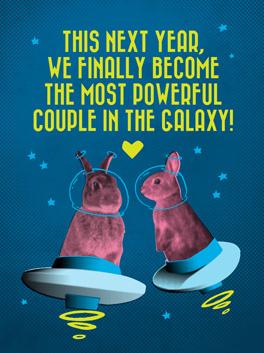 galaxy happy new year card