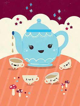 teapot on the fly card