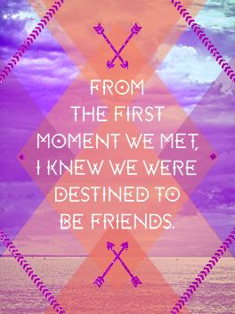 destiny friends rule card
