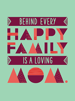 happy family mother's day card